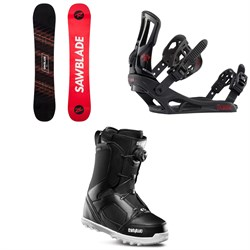 Rossignol Sawblade Snowboard 2020 + Battle Snowboard Bindings  + thirtytwo STW Boa Snowboard Boots 2020