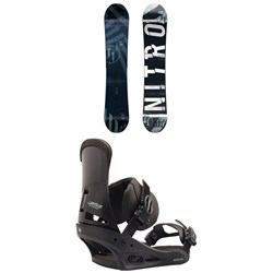 Nitro T1 Snowboard + Burton Custom Snowboard Bindings