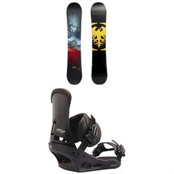 Never Summer Snowtrooper Snowboard 2019 + Burton Custom Snowboard Bindings