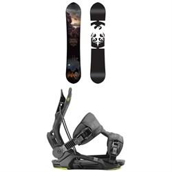 Never Summer West Bound X Snowboard + Flow Fenix Snowboard Bindings