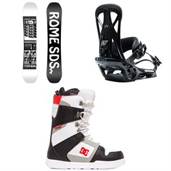 Rome Mechanic SE Snowboard 2020 + United Snowboard Bindings  + DC Phase Snowboard Boots 2020