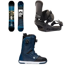 Rome Reverb Rocker SE Snowboard 2019 + Burton Custom Snowboard Bindings  + DC Control Boa Snowboard Boots