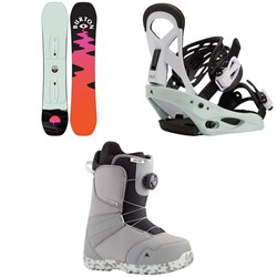 Burton Yeasayer Smalls Snowboard + Smalls Snowboard Bindings + Zipline Boa Snowboard Boots - Kids' 2021