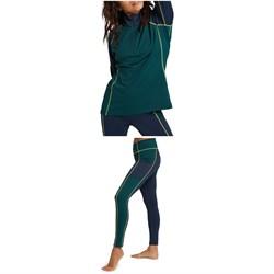 Burton Heavyweight X Quarter-Zip Base Layer Top + Heavyweight X Base Layer Pants - Women's