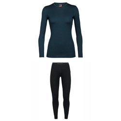 Icebreaker 260 Tech Long Sleeve Crew Top ​+ 260 Tech Leggings - Women's