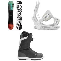 Rossignol Frenemy Snowboard + Flow Mayon Snowboard Bindings + Nidecker Onyx Boa Coil Snowboard Boots - Women's