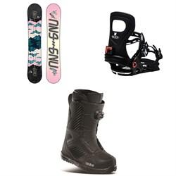 GNU Asym Velvet C2 Snowboard + Bent Metal Metta Snowboard Bindings + thirtytwo STW Boa Snowboard Boots - Women's 2021