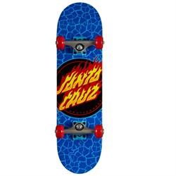 Santa Cruz Flame Dot Micro 7.5 Skateboard Complete