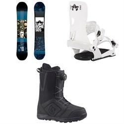 Rome Reverb Rocker SE Snowboard 2019 + Crux SE Snowboard Bindings  + Burton Moto Boa Snowboard Boots 2018