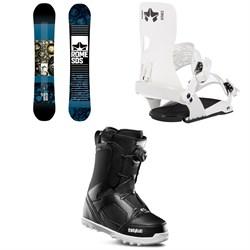 Rome Reverb Rocker SE Snowboard 2019 + Crux SE Snowboard Bindings  + thirtytwo STW Boa Snowboard Boots