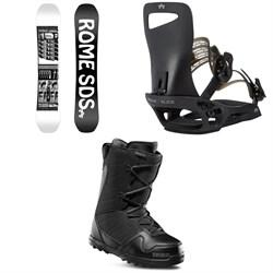 Rome Mechanic SE Snowboard + Slice SE Snowboard Bindings + thirtytwo Exit Snowboard Boots