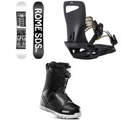 Rome Mechanic SE Snowboard ​+ Slice SE Snowboard Bindings ​+ thirtytwo STW Boa Snowboard Boots