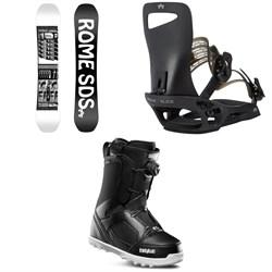 Rome Mechanic SE Snowboard + Slice SE Snowboard Bindings + thirtytwo STW Boa Snowboard Boots