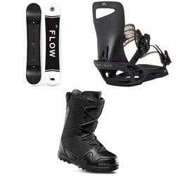 Flow Merc Snowboard 2018 + Rome Slice SE Snowboard Bindings  + thirtytwo Exit Snowboard Boots
