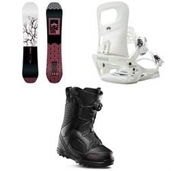 Rome Royal Snowboard + Glade SE Snowboard Bindings + thirtytwo STW Boa Snowboard Boots - Women's