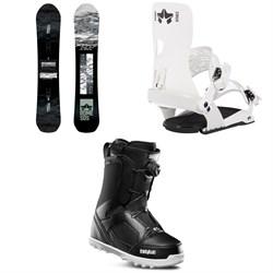 Rome Warden Snowboard + Crux SE Snowboard Bindings + thirtytwo STW Boa Snowboard Boots