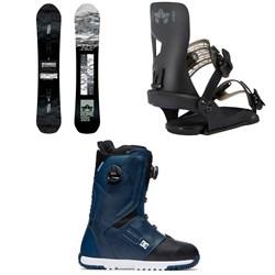 Rome Warden Snowboard + Crux SE Snowboard Bindings + DC Control Boa Snowboard Boots