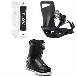 Flow Merc Snowboard 2018 + Rome Slice SE Snowboard Bindings  + thirtytwo STW Boa Snowboard Boots