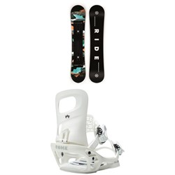 Ride Heartbreaker Snowboard + Rome Glade SE Snowboard Bindings - Women's