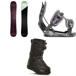 Nidecker Venus Snowboard + Flow Haylo Snowboard Bindings + thirtytwo Shifty Boa Snowboard Boots - Women's
