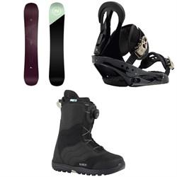 Nidecker Venus Snowboard  + Burton Citizen Snowboard Bindings 2019 + Mint Boa Snowboard Boots - Women's 2018