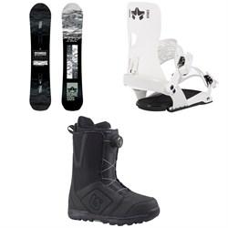 Rome Warden Snowboard  + Crux SE Snowboard Bindings  + Burton Moto Boa Snowboard Boots 2018