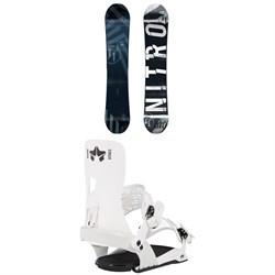 Nitro T1 Snowboard + Rome Crux SE Snowboard Bindings
