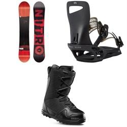 Nitro Prime Screen Snowboard + Rome Slice SE Snowboard Bindings + thirtytwo Exit Snowboard Boots