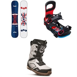 GNU FB Head Space Asym C3 Snowboard ​+ Bent Metal Joint Snowboard Bindings ​+ thirtytwo Light JP Snowboard Boots