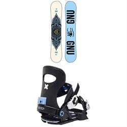 GNU Asym Pro Choice C3 Snowboard + Bent Metal Forte Snowboard Bindings - Women's 2021