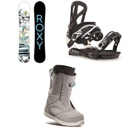 Roxy Smoothie C2 Snowboard ​+ Team Snowboard Bindings ​+ thirtytwo STW Boa Snowboard Boots - Women's 2021