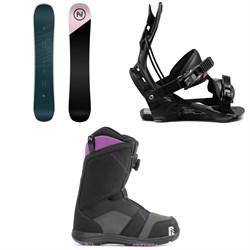 Nidecker Venus Snowboard + Flow Juno Snowboard Bindings + Nidecker Maya Boa Snowboard Boots - Women's 2021