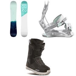 Nidecker Elle Snowboard + Flow Juno Snowboard Bindings + thirtytwo Shifty Boa Snowboard Boots - Women's 2021