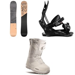 Nidecker Angel Snowboard ​+ Flow Juno Snowboard Bindings ​+ thirtytwo Shifty Boa Snowboard Boots - Women's 2021