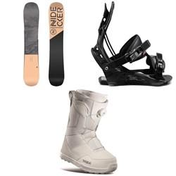 Nidecker Angel Snowboard + Flow Juno Snowboard Bindings + thirtytwo Shifty Boa Snowboard Boots - Women's 2021