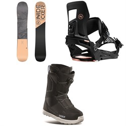 Nidecker Angel Snowboard ​+ Muon-W Snowboard Bindings ​+ thirtytwo Shifty Boa Snowboard Boots - Women's 2021