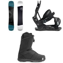 Nidecker Sensor Snowboard + Flow Nexus Snowboard Bindings + Nidecker Ranger Boa Snowboard Boots 2021