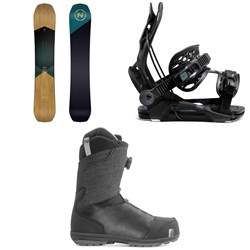 Nidecker Escape Snowboard + Flow Fenix Snowboard Bindings + Nidecker Aero Boa Coiler Snowboard Boots 2021
