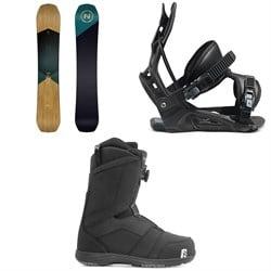 Nidecker Escape Snowboard + Flow Nexus Snowboard Bindings + Nidecker Ranger Boa Snowboard Boots 2021