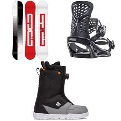 DC Focus Snowboard + Flux PR Snowboard Bindings + DC Scout Boa Snowboard Boots 2021