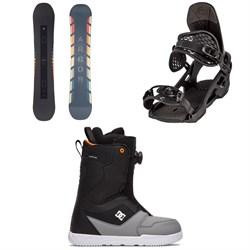 Arbor Formula Rocker Snowboard + Spruce Snowboard Bindings + DC Scout Boa Snowboard Boots 2021