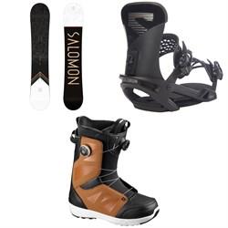 Salomon Sight Snowboard + Trigger X Snowboard Bindings + Launch Boa SJ Snowboard Boots 2021