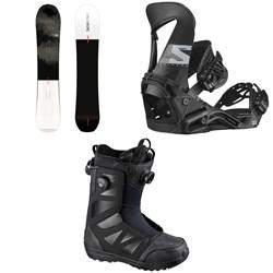 Salomon Super 8 Snowboard + Hologram Snowboard Bindings + Launch Boa SJ Snowboard Boots 2021