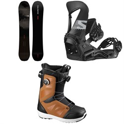 Salomon Super 8 Pro Snowboard + Hologram Snowboard Bindings + Launch Boa SJ Snowboard Boots 2021