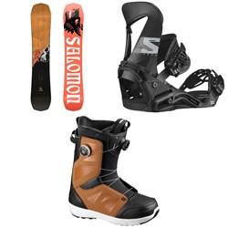 Salomon Assassin Snowboard + Hologram Snowboard Bindings + Launch Boa SJ Snowboard Boots 2021