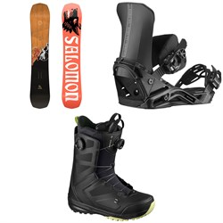 Salomon Assassin Snowboard + District Snowboard Bindings + Dialogue Focus Boa Snowboard Boots 2021