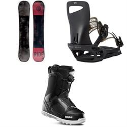 Ride Agenda Snowboard + Rome Slice SE Snowboard Bindings + thirtytwo STW Boa Snowboard Boots