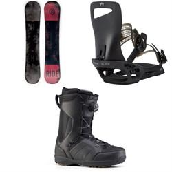 Ride Agenda Snowboard + Rome Slice SE Snowboard Bindings + Ride Jackson Snowboard Boots