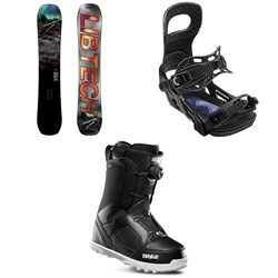 Lib Tech Box Knife C3 Snowboard ​+ Bent Metal Joint Snowboard Bindings ​+ thirtytwo STW Boa Snowboard Boots