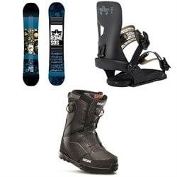 Rome Reverb Rocker SE Snowboard 2019 + Crux SE Snowboard Bindings  + thirtytwo Lashed Double Boa Snowboard Boots